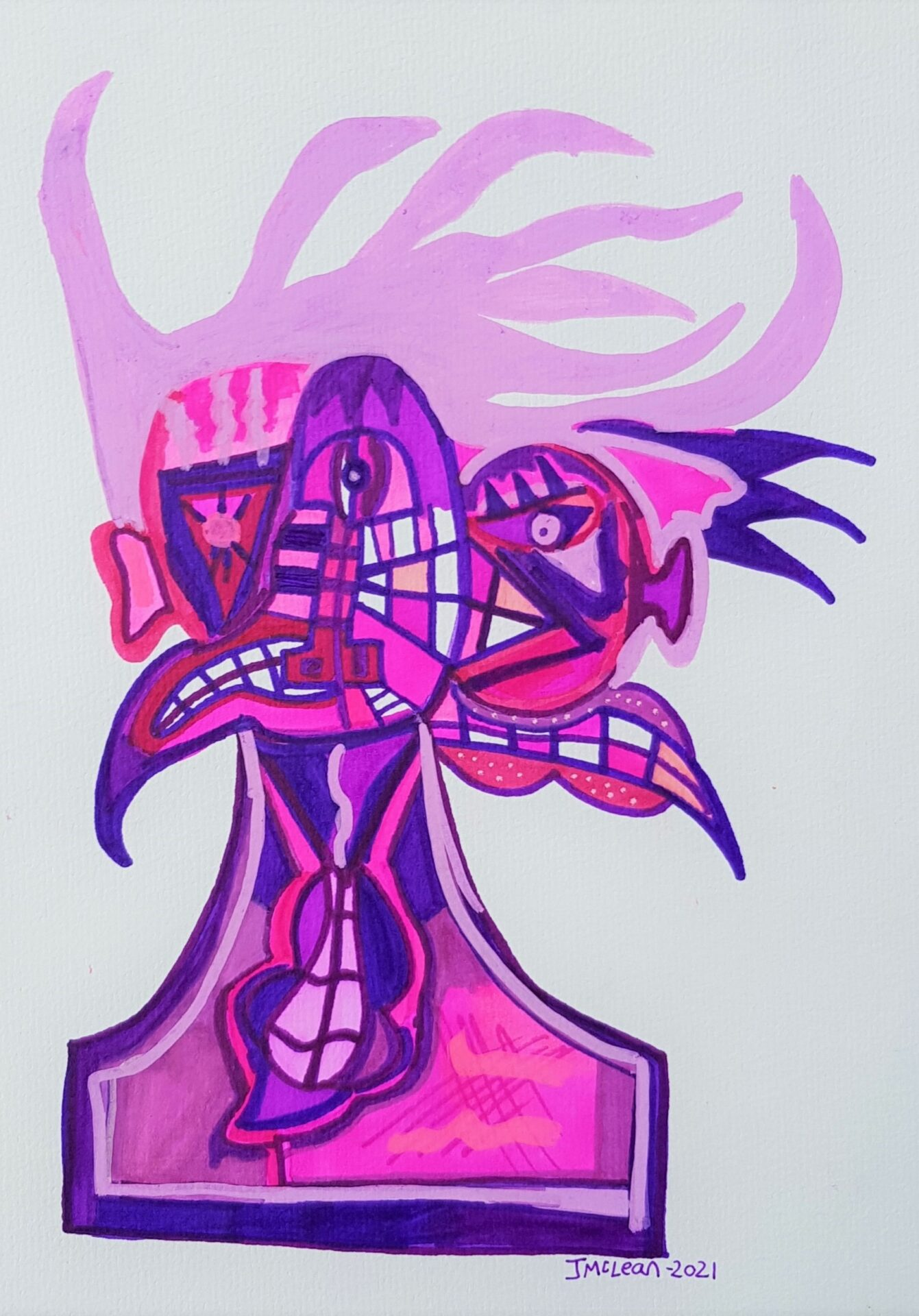 Mister Purple By James McLean Showing In Works On Paper