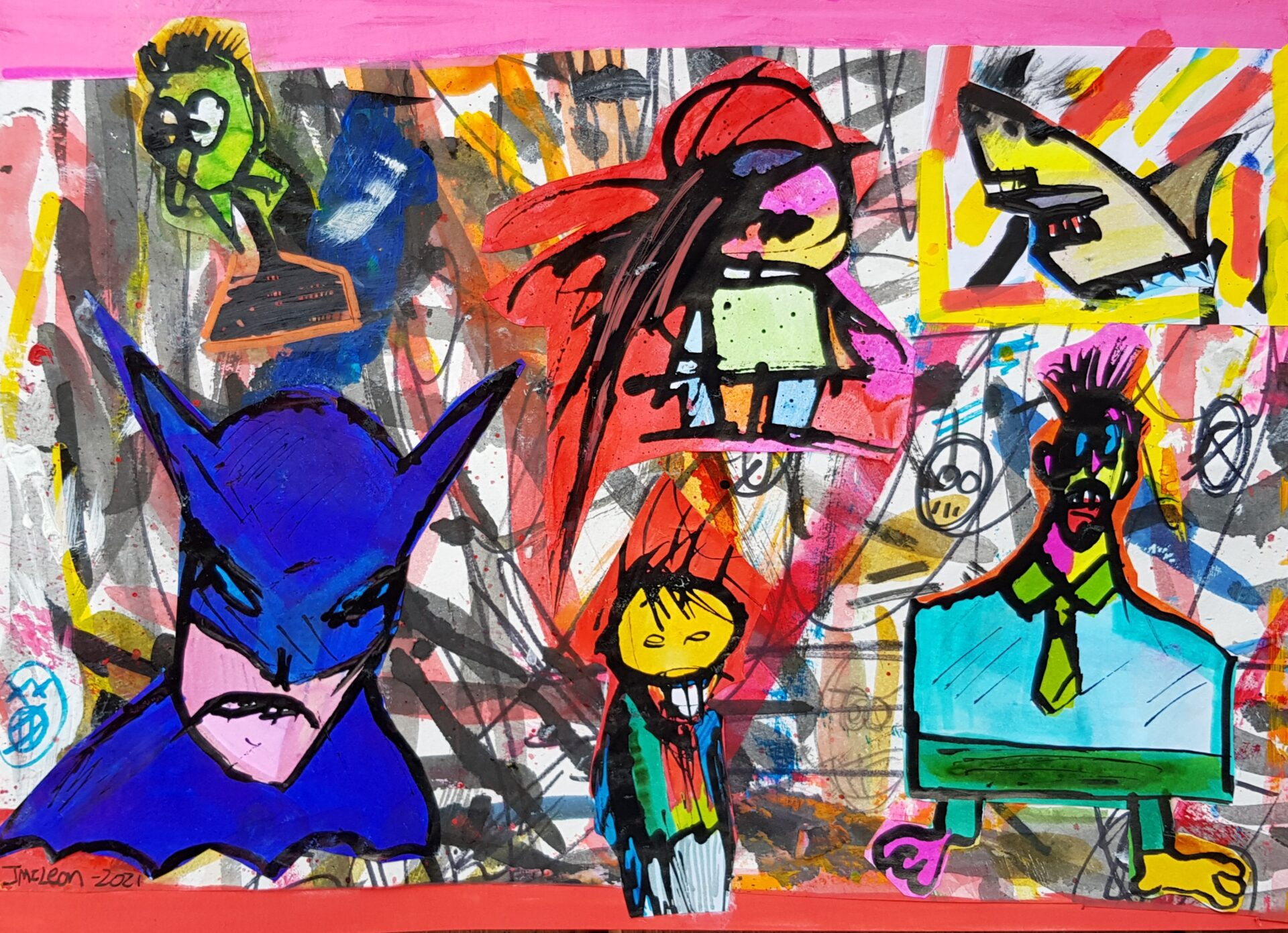 Rampage By James McLean Showing In Works On Paper