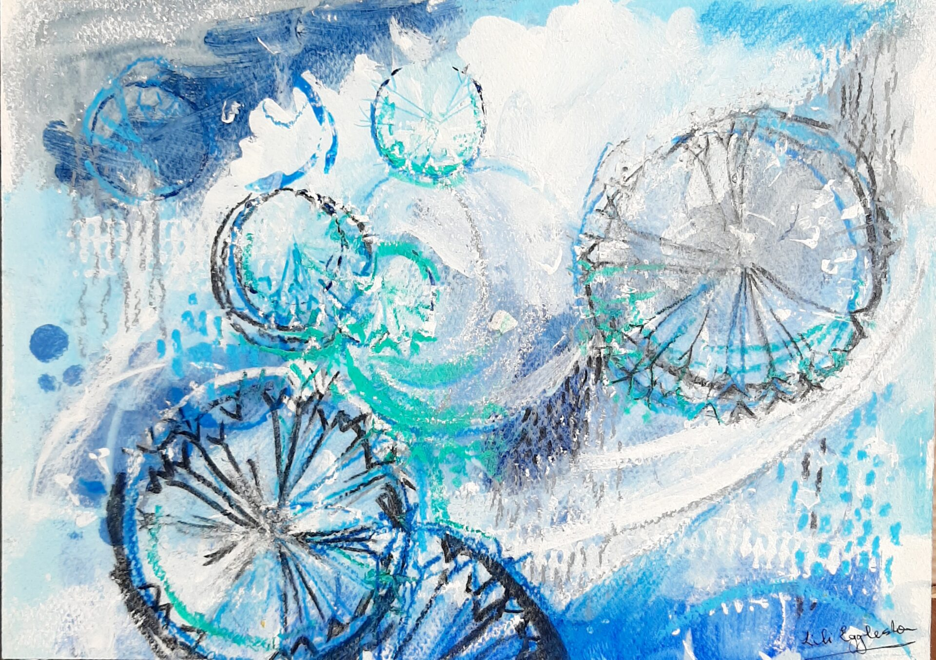 Endless Dance With The Wind. By Lili Eggleston Showing In Works On Paper