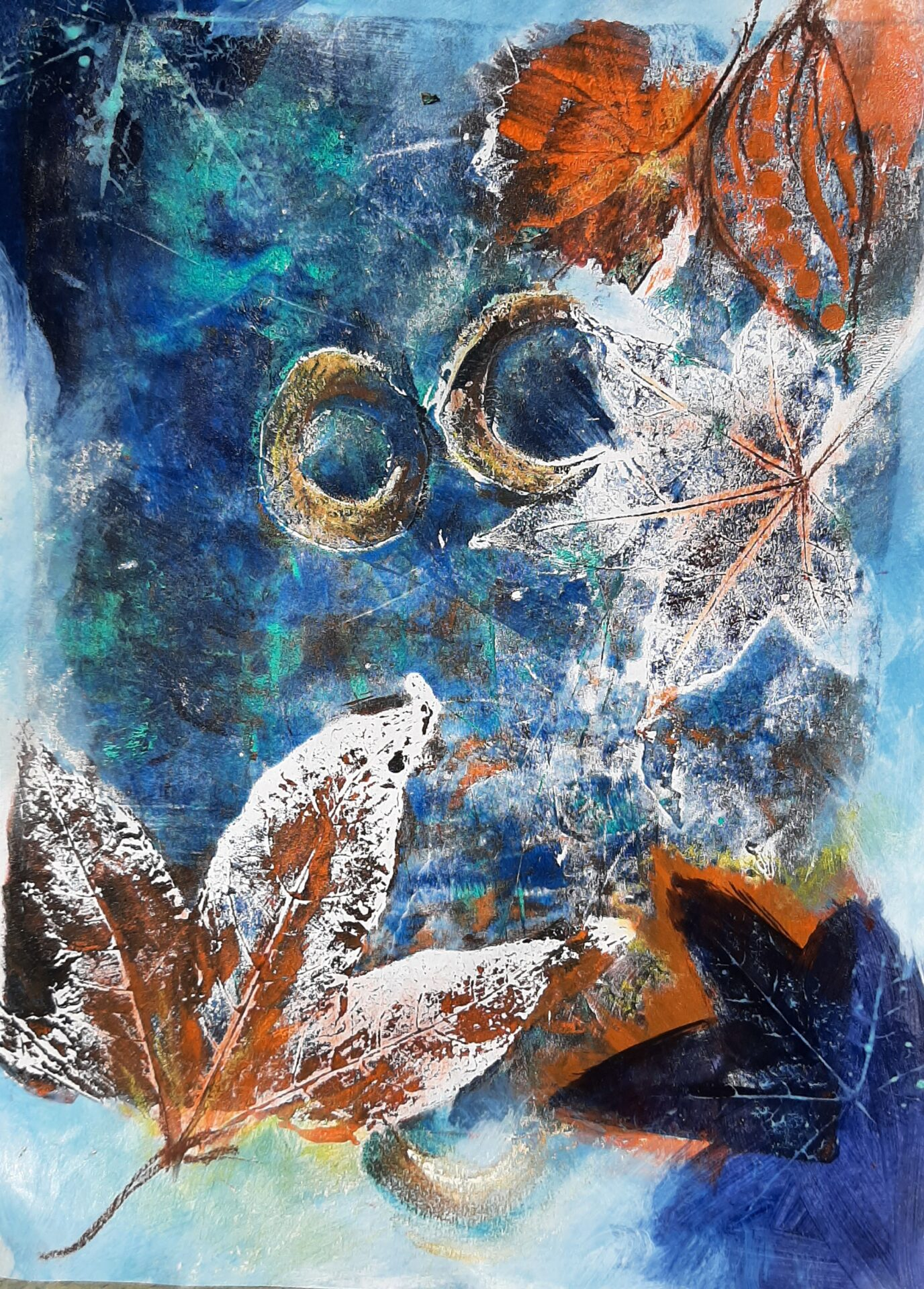 Indigo Autumn By Lili Eggleston Showing In Works On Paper