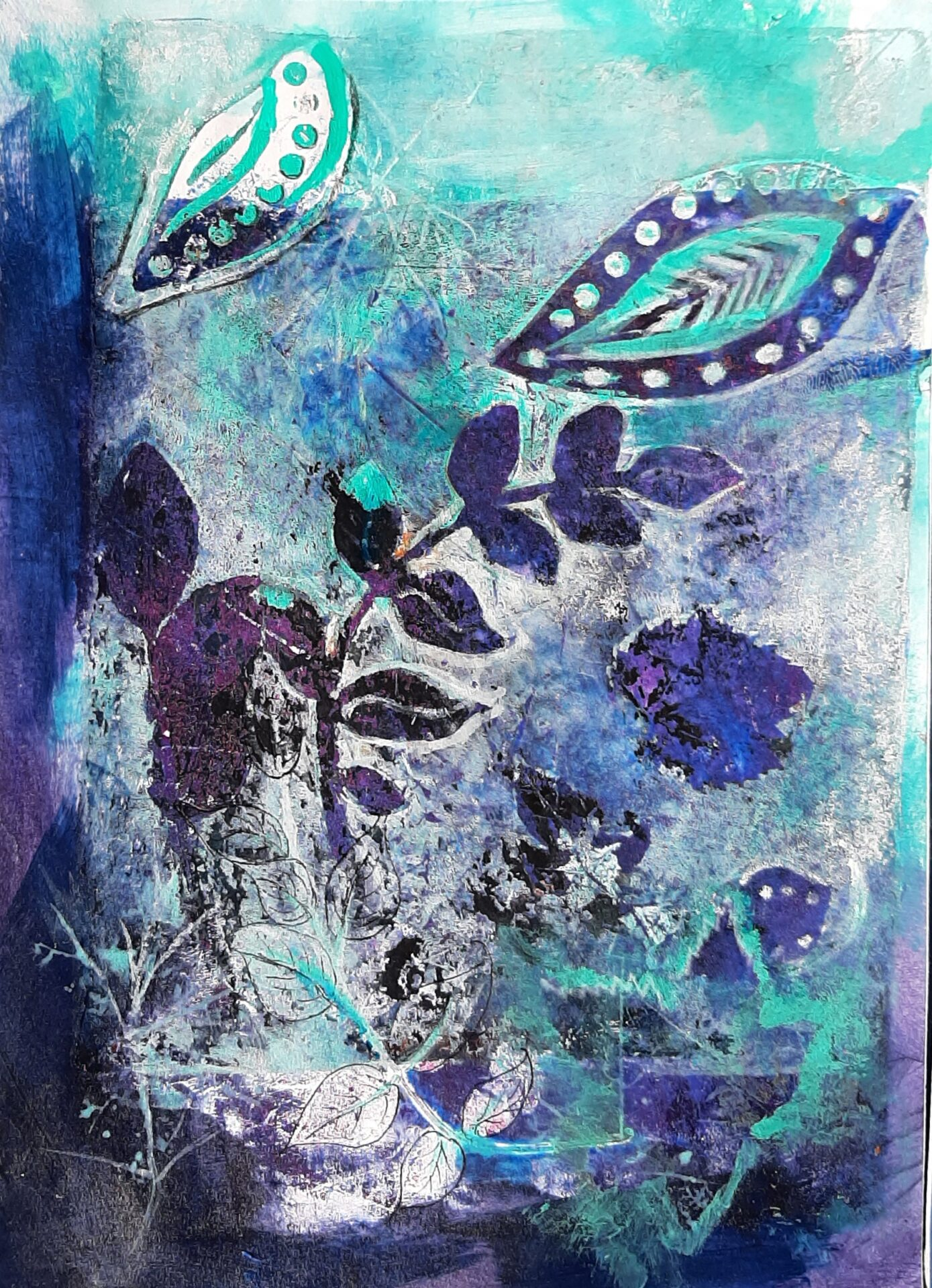 Periwinkle Paisley By Lili Eggleston Showing In Works On Paper