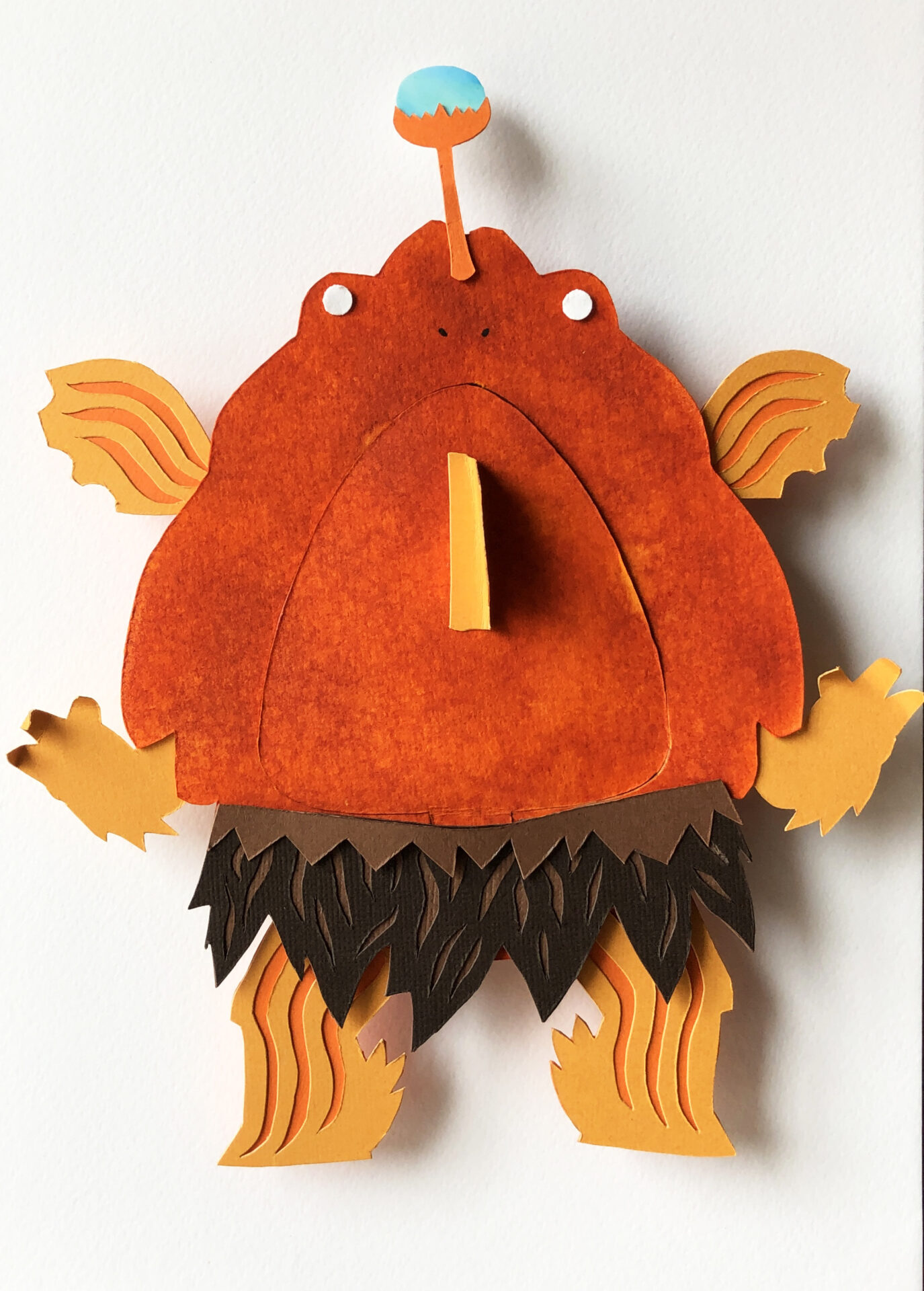Angler Fish By Manny Sison Showing In Works On Paper