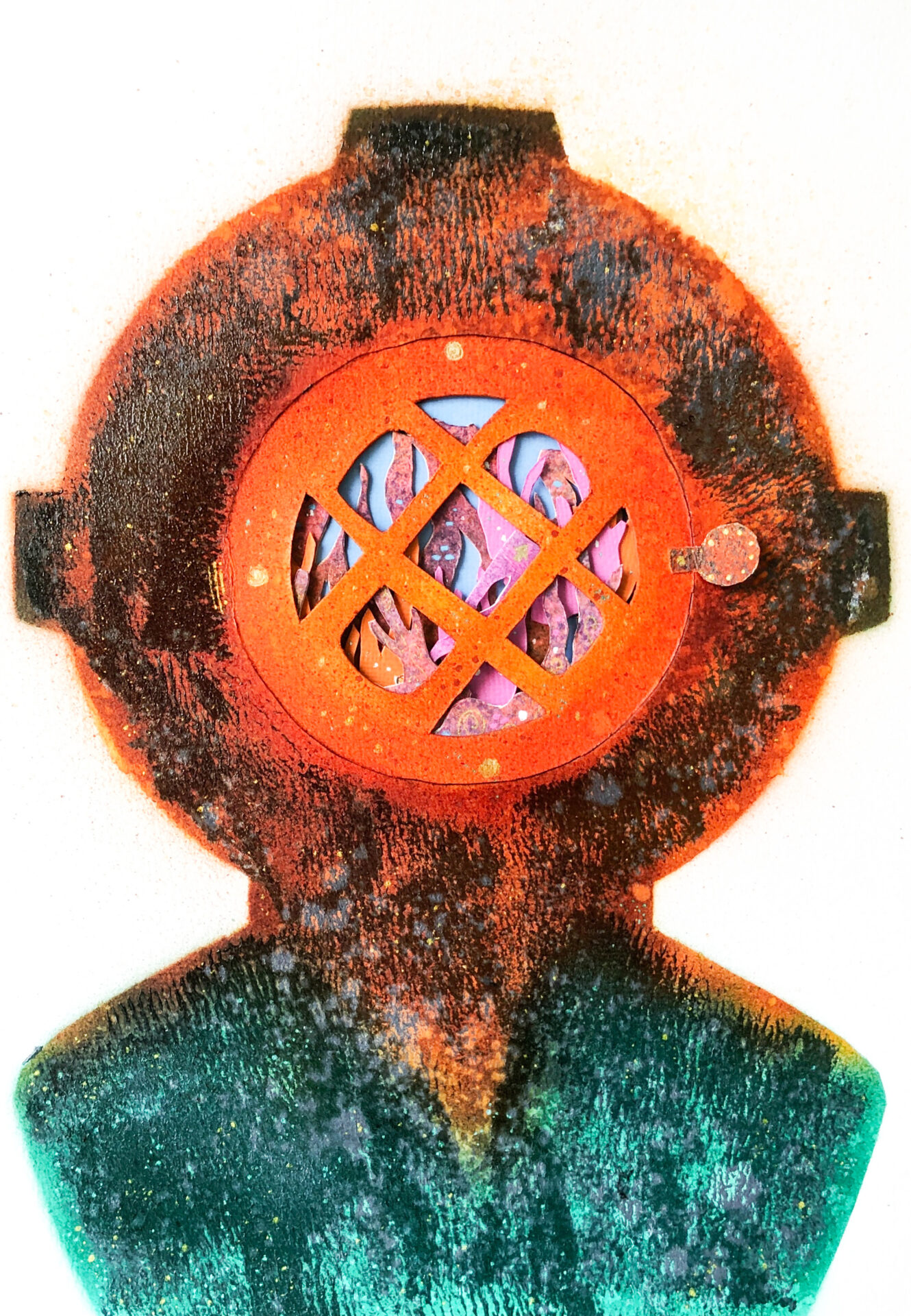 Diver Helmet By Manny Sison Showing In Works On Paper