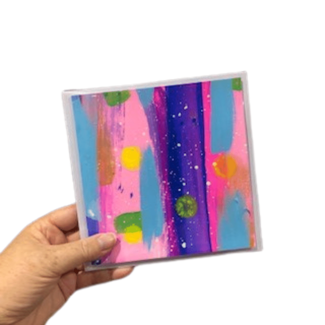 Square Handpainted Greeting Cards By Claire Monique