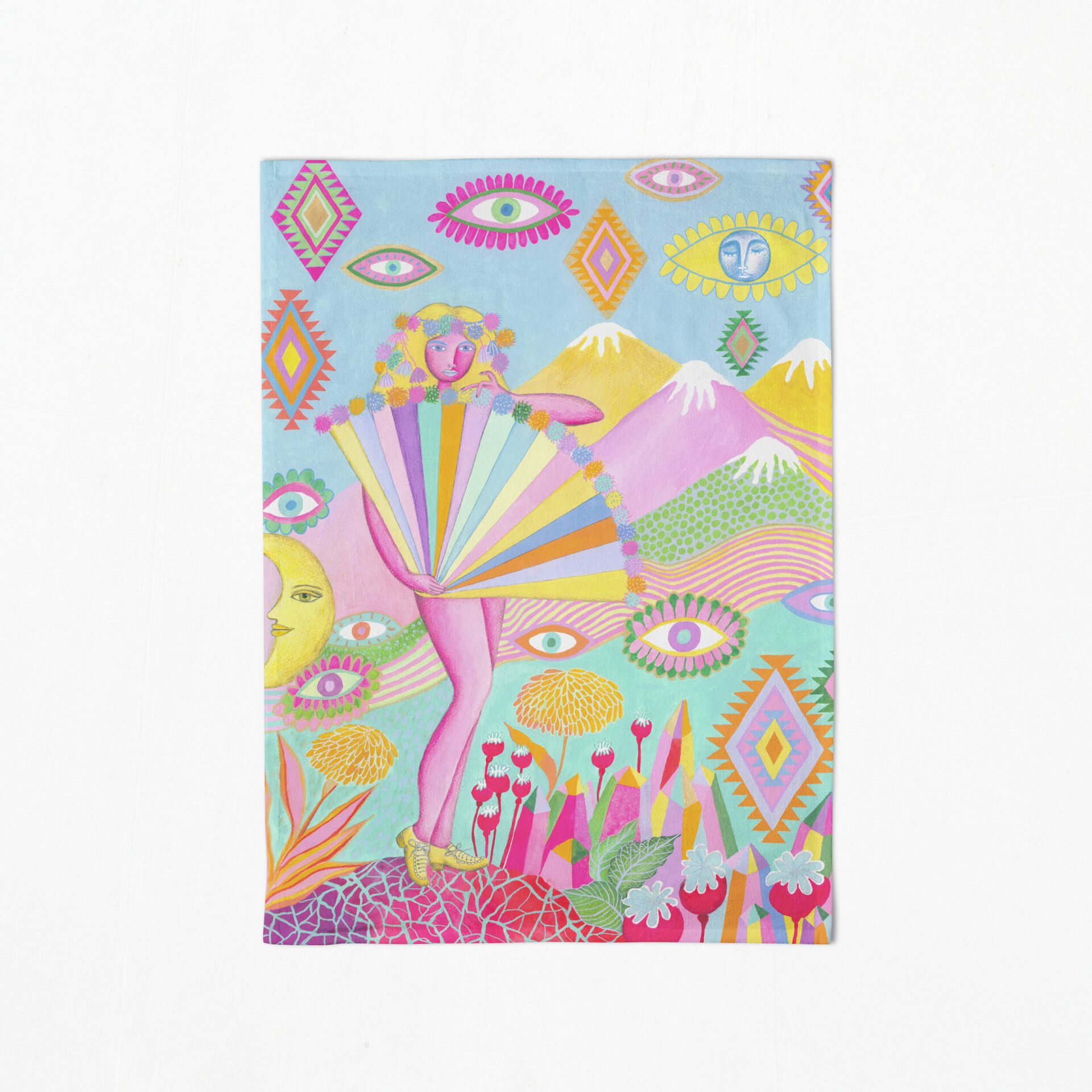 St Kilda Tea Towel By Lime And Lemon