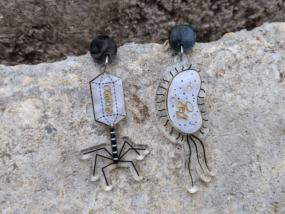 Bacteria And Virus Earrings By Oh Pluto