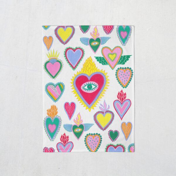 heart-tea-towel-by-lime-and-lemon-by-Lime and Lemon