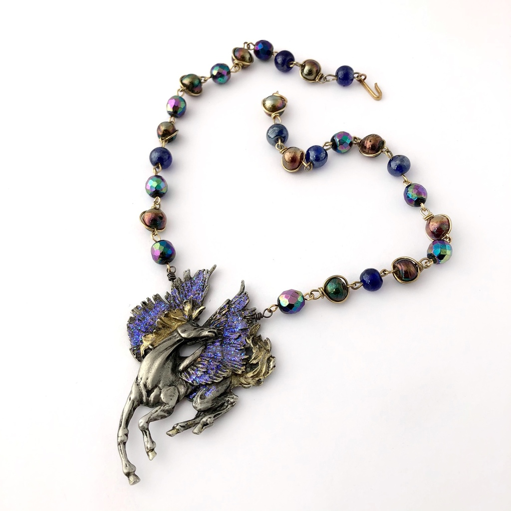 Mystic Pegasus Reimagined Vintage Necklace By My Vintage Obsession