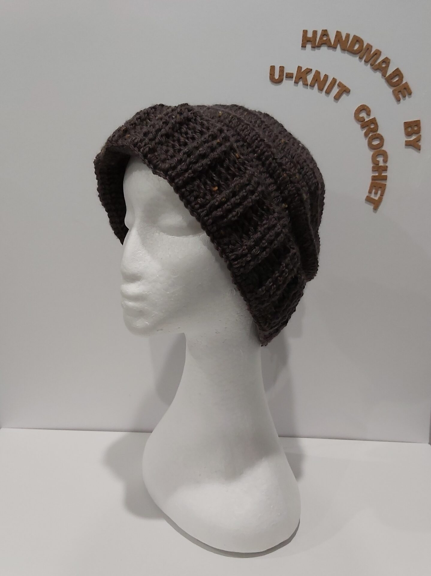 Walnut Beanie Handmade By U-Knit Crochet