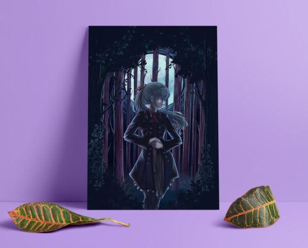 ivy-in-the-forest-a5-and-a4-giclee-print-by-Enixy