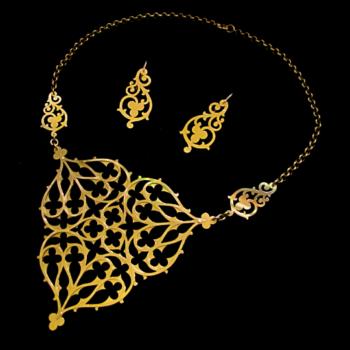 medieval masque set by skadi jewellery design