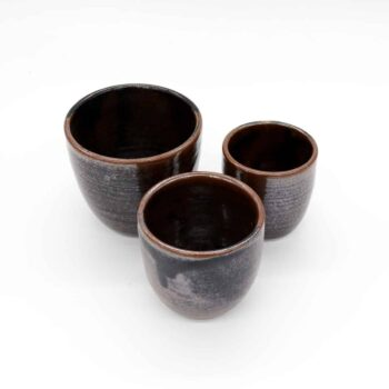 nestable-beaker-brown-large-by-Clifton Hill Pottery