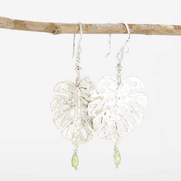 sterling-silver-monstera-leaf-earrings-with-peridot-by-tlh-inspired-by-tlhinspired