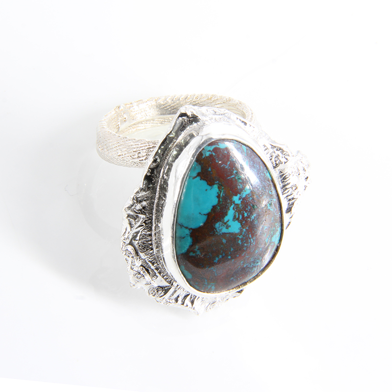 cuttlebone-cast-sterling-silver-adjustable-ring-with-labradorite-by-tlh-inspired-by-tlhinspired