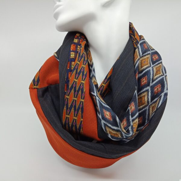 burnt-orange-and-deep-grey-silk-and-wool-scarf-by-judith-scott-upcycling-by-judithscott