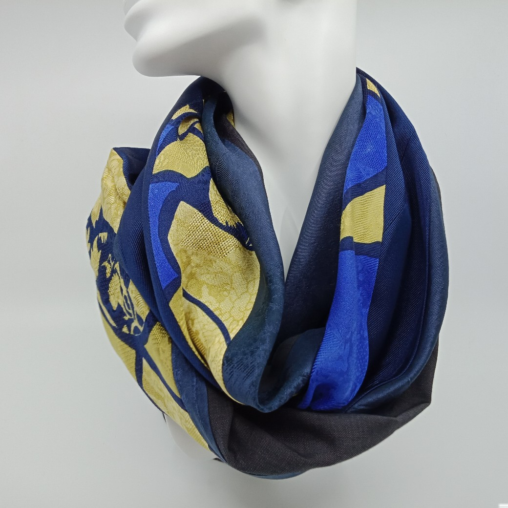 Unique Silk And Superfine Wool Scarf By Judith Scott Upcycling
