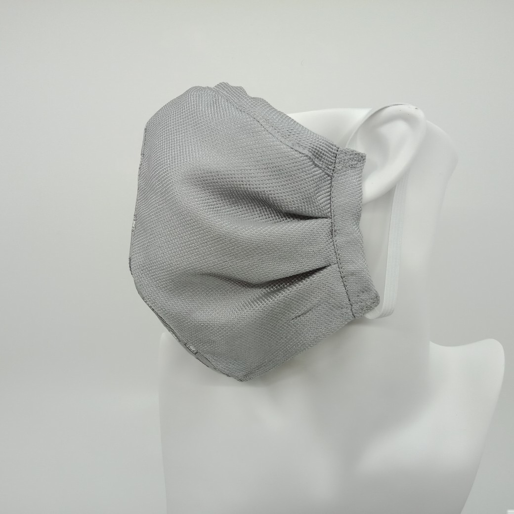 Sustainable Silver Grey Silk Face Mask By Judith Scott Upcycling