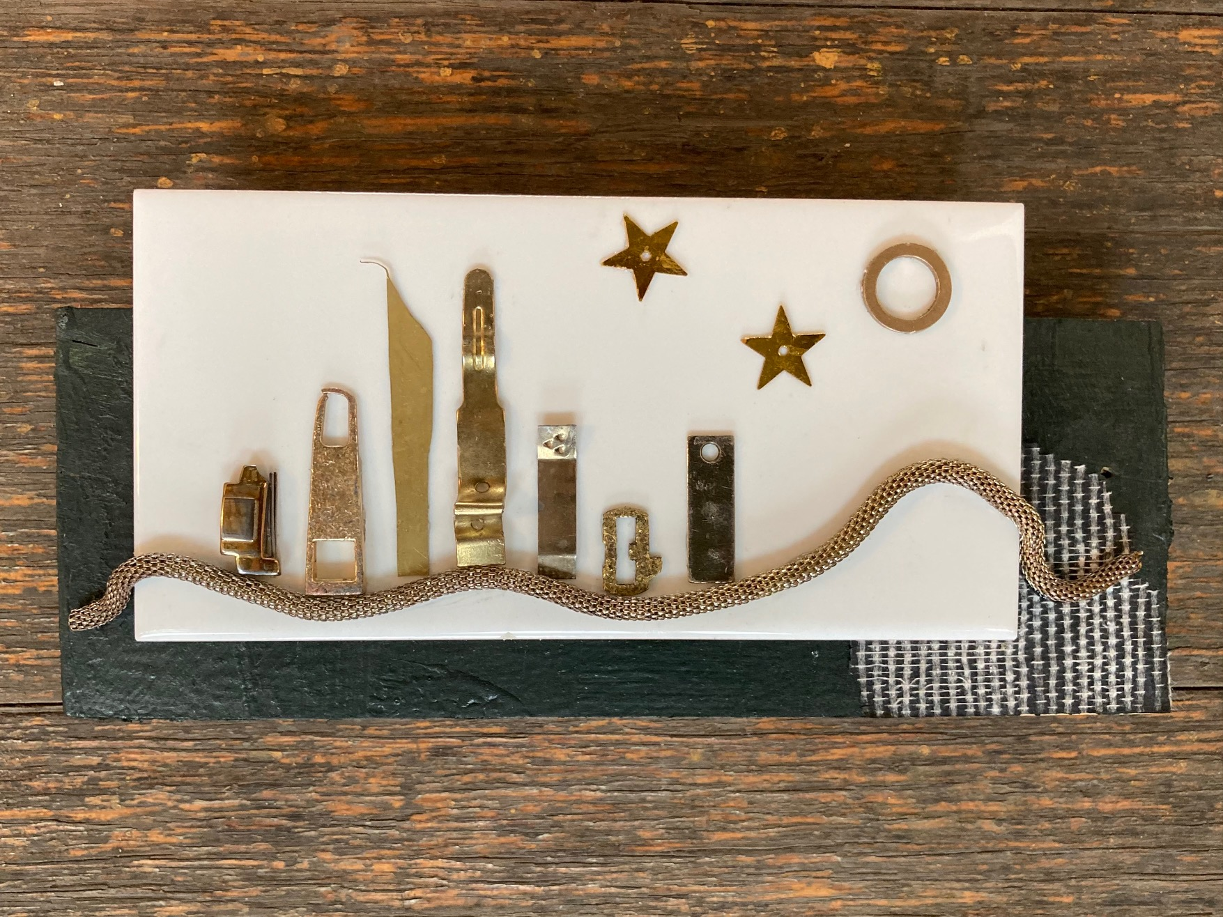 Remember White Night 2 – Miniature Cityscape Wall Sculpture By NancyDee Sculptures