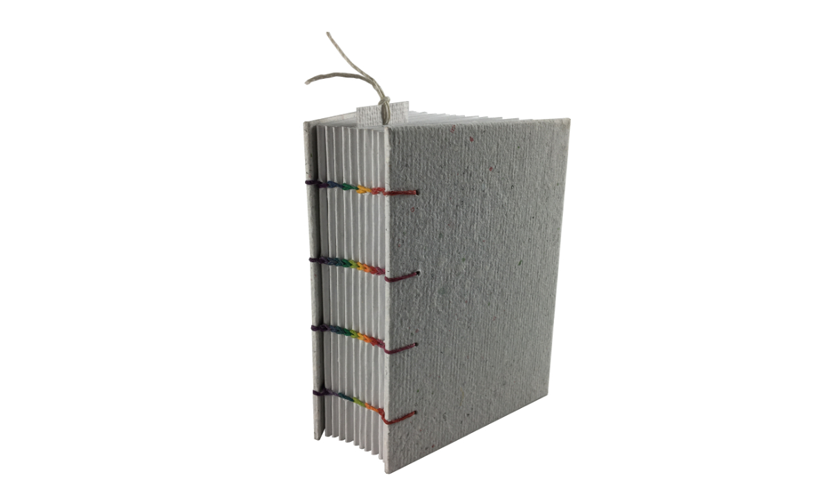 """""""Rainbow Spine"""" A6 Handmade Paper Journal By Zwartko"""