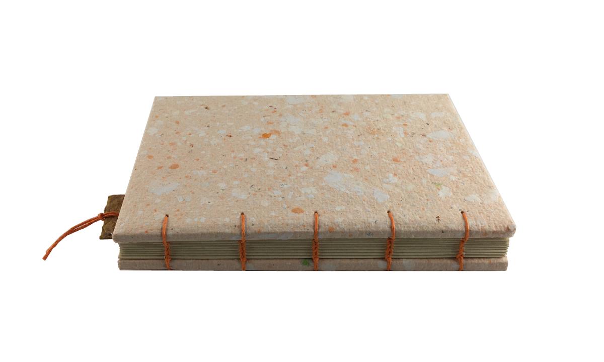 """""""Carrot & Cream"""" A5 Handmade Paper Journal By Zwartko"""