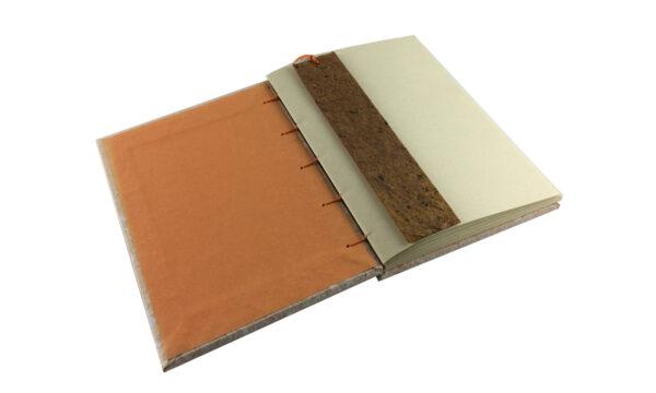 """""""Carrot & Cream"""" A5 Handmade Paper Journal by Zwartko Zwartko (Fitzroy)"""