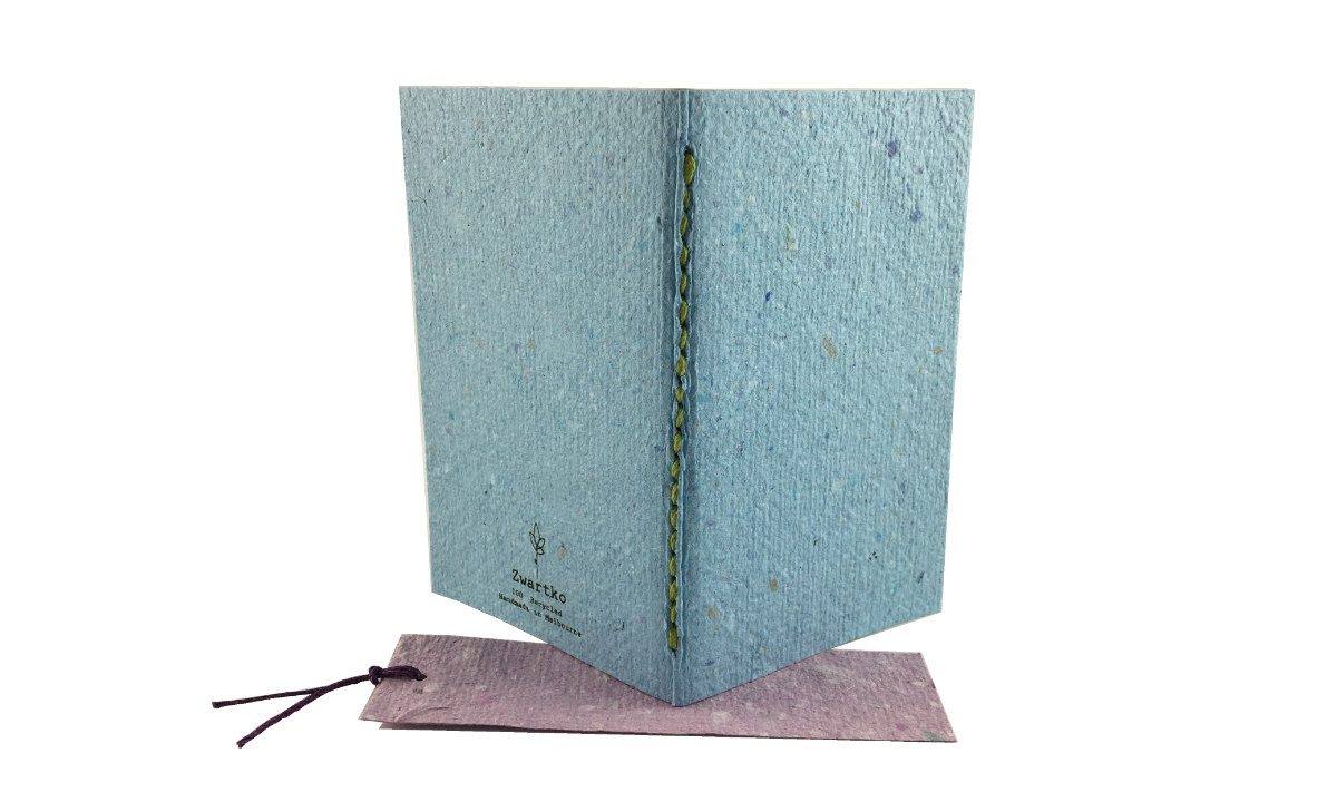 """""""Blueberry Bubble"""" Handmade Paper Softcover By Zwartko"""
