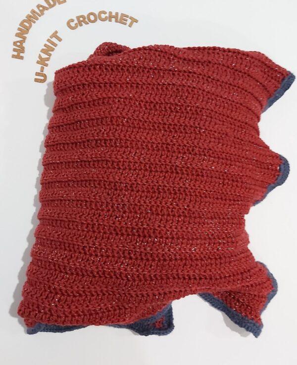 Coral Lap Blanket Handmade by U-Knit Crochet U-Knit Crochet (online only)