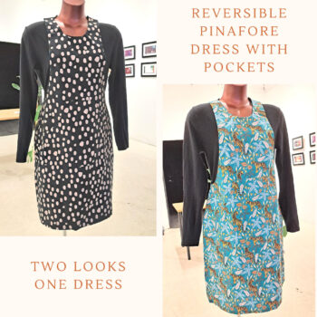 size 8 Reversible Dress with pockets, Size 8 Tigers and Peachy spots by St David Studio 3065
