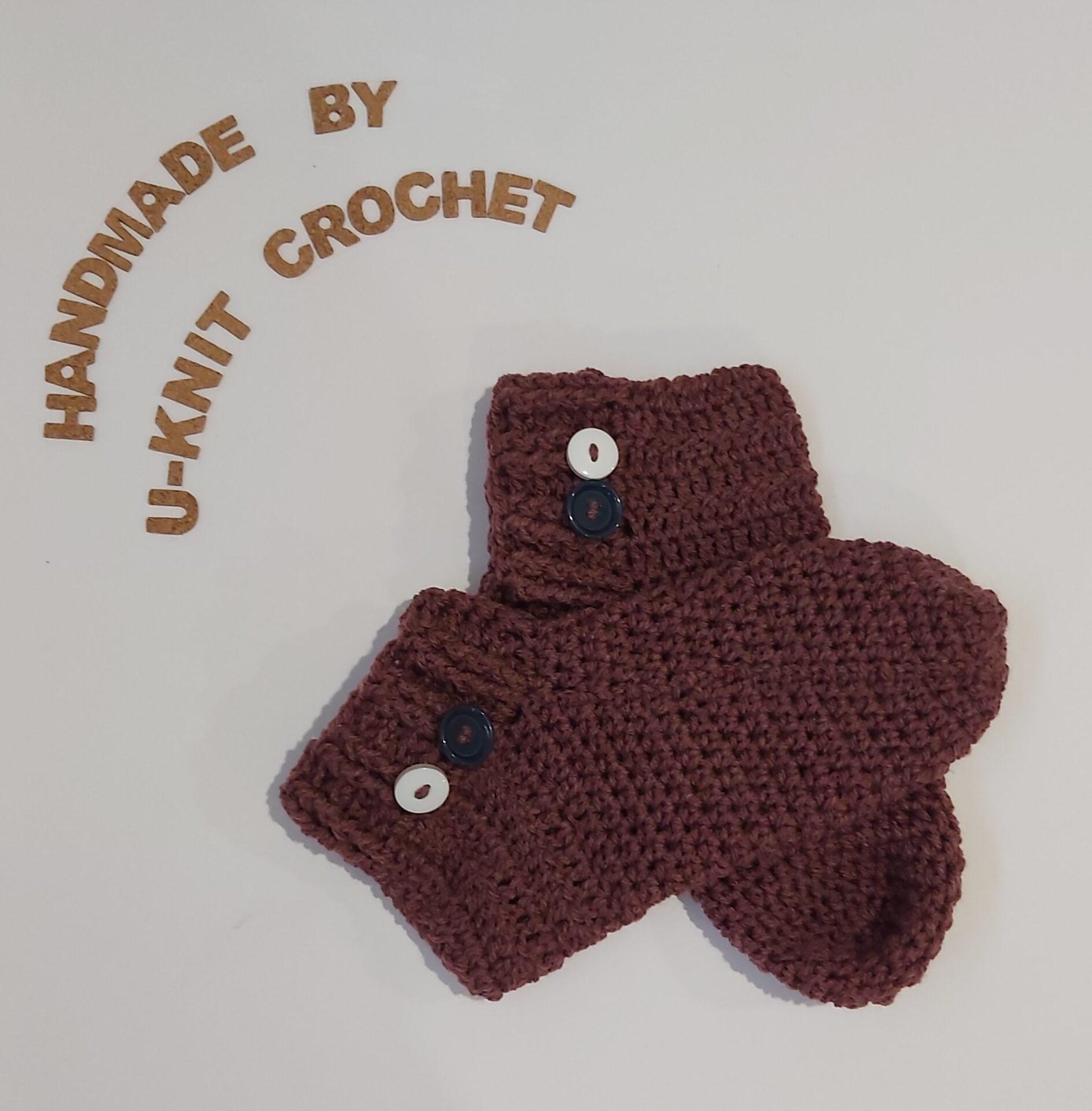 Mauve Home Socks Handmade By U-Knit Crochet