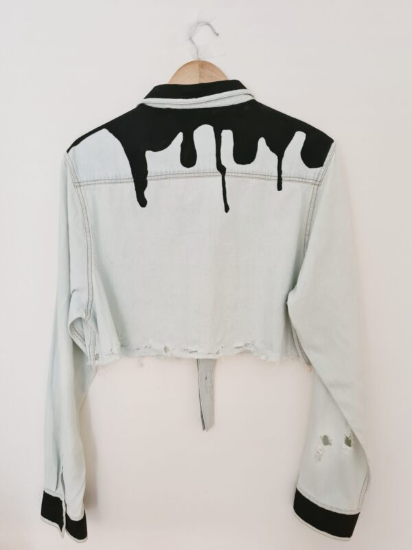 Cropped Paint Drip Shirt by Being Benign Being Benign (Fitzroy)