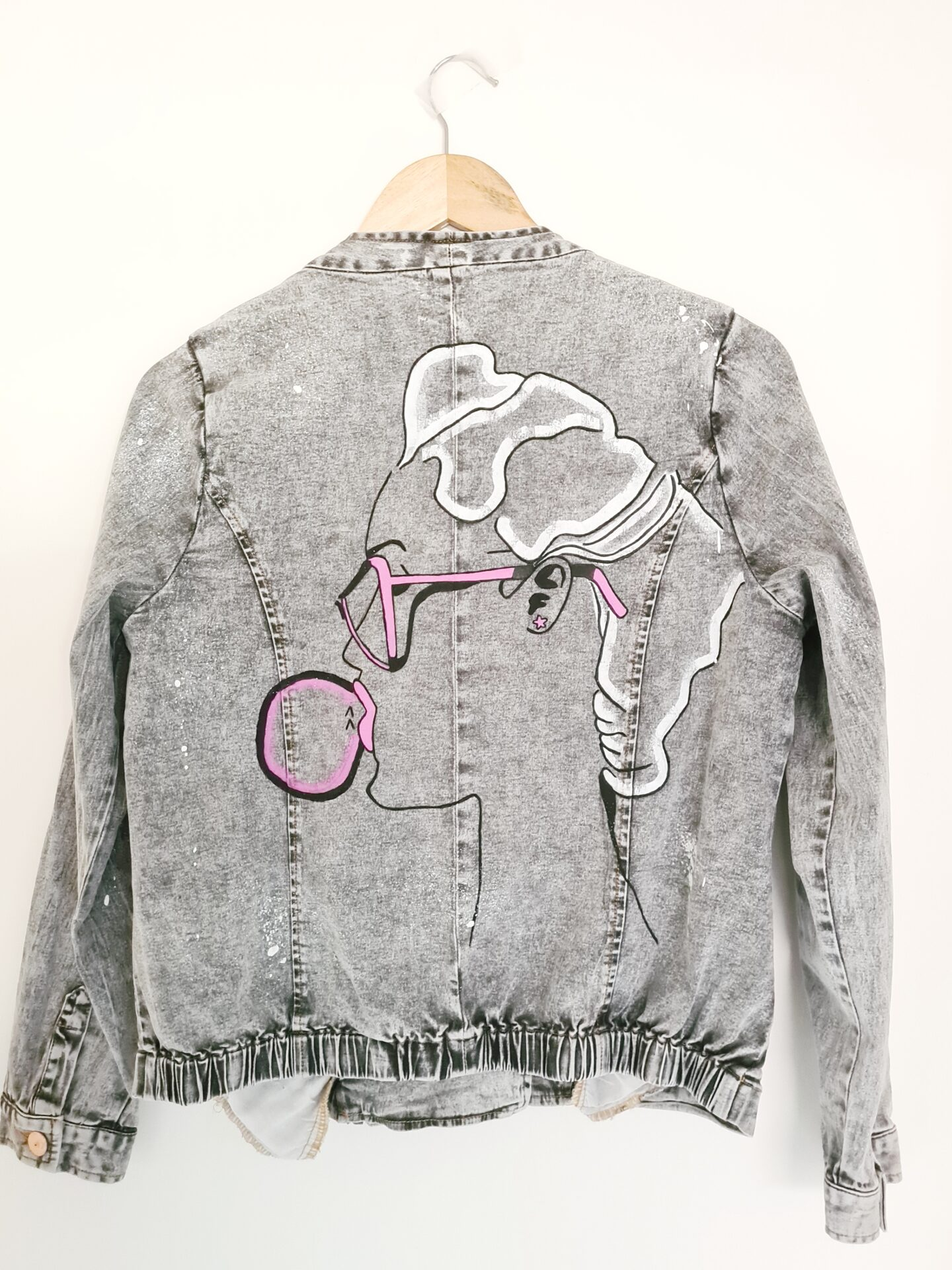 Bubblegum Splash Painted Denim Jacket By Being Benign