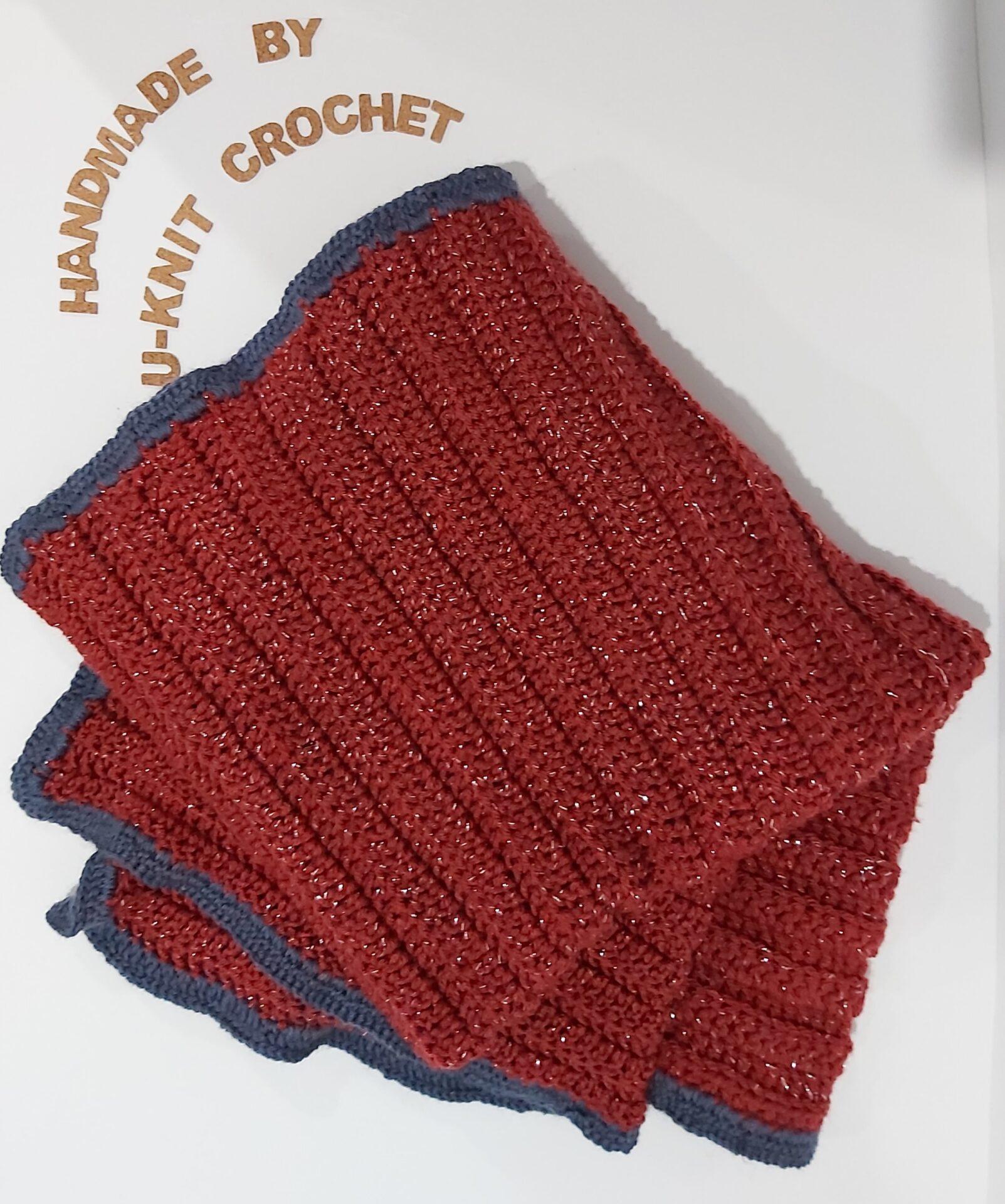 Coral Lap Blanket Handmade By U-Knit Crochet