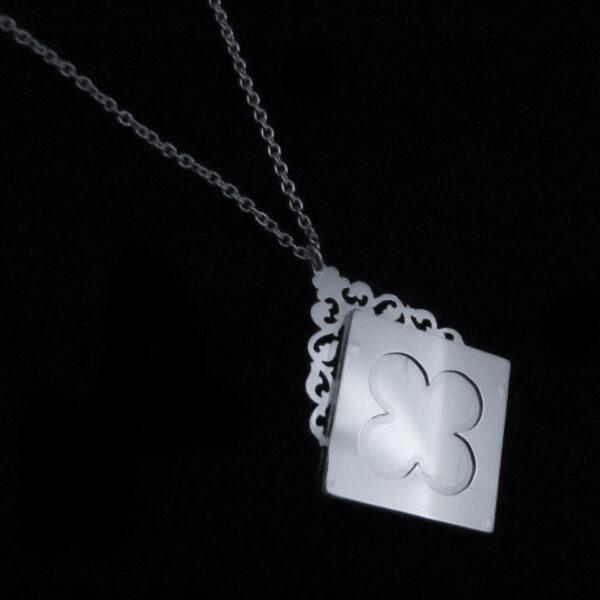 labyrinth silver locket necklace by skadi jewellery design