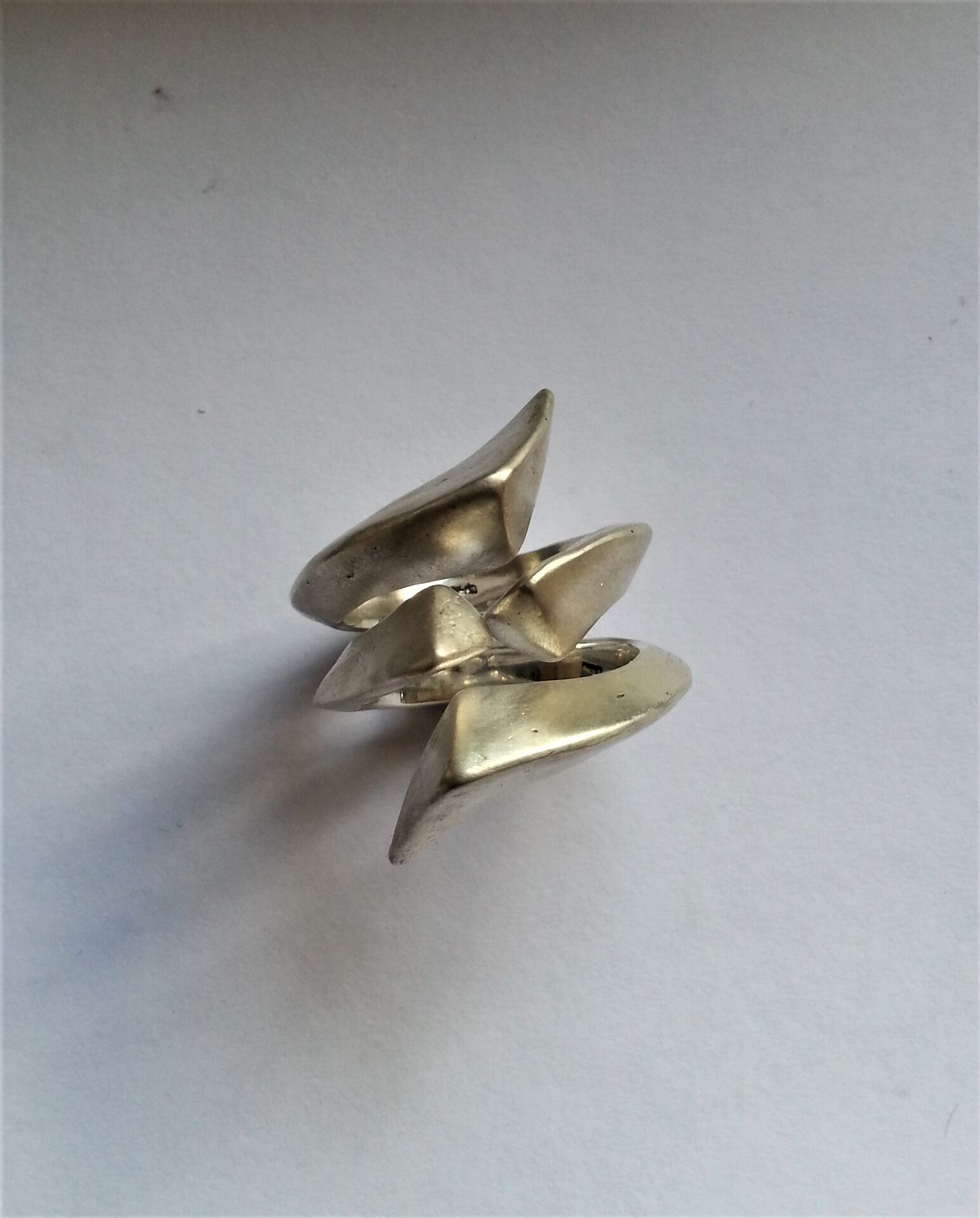 Sterling Silver Forged Stack Rings-Size P 1/2 -by Corinne Lomon
