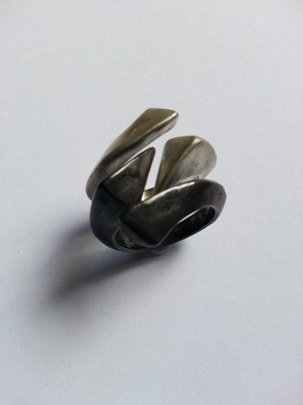 Sterling Silver Forged Stack Rings-Size P1/2 -by Corinne Lomon Corinne Lomon (Fitzroy)