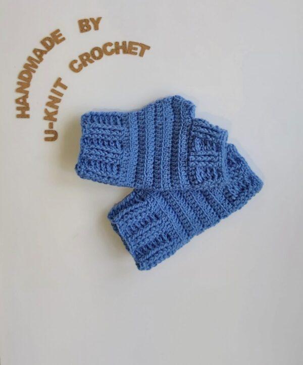 Sky Blue Mittens Handmade by U-Knit Crochet U-Knit Crochet (online only)