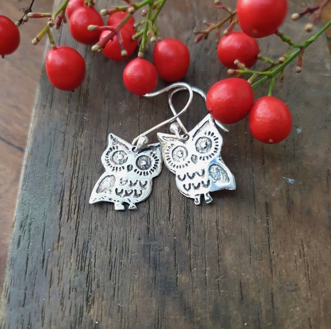 Owl earrings by the Silver Goose The Silver Goose (Prahran)