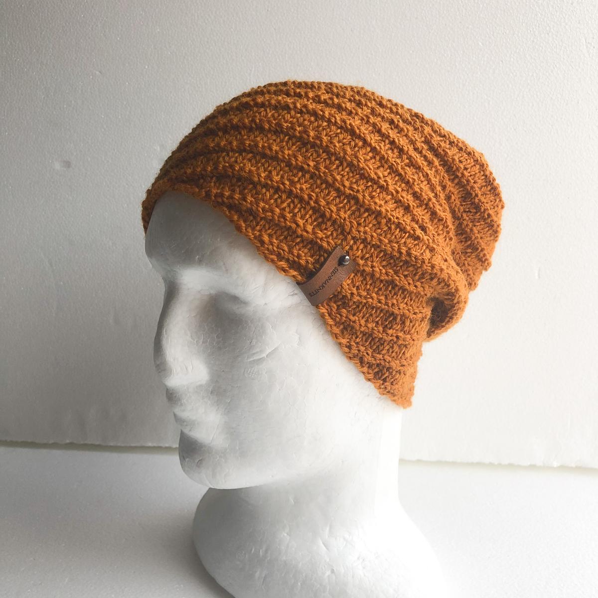 100% Wool Mustard Knit Women Beanie by SiennaKnits SiennaKnits (Fitzroy)