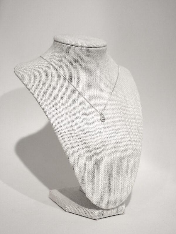 Little Egg - Handmade Solid Sterling Silver Teardrop Pendant with Fine Chain by Purplefish Designs Purplefish Designs (Fitzroy)