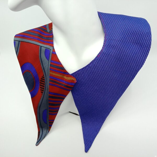 Red and purple silk faux collar by Judith Scott Upcycling Judith Scott Upcycling (Fitzroy)