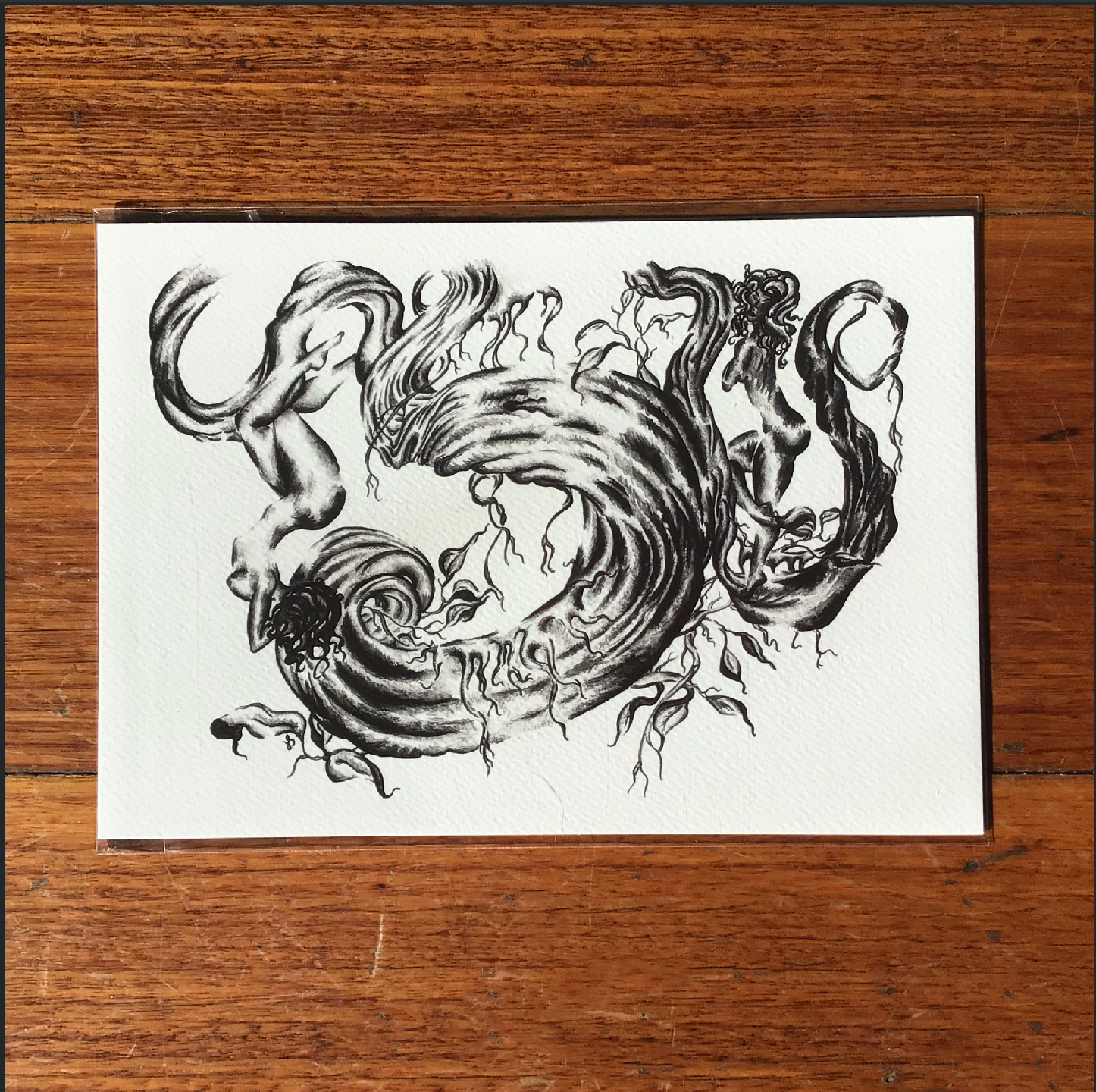 'Dryads', A5 Fine Art Print by Inktacled inktacled (Fitzroy)