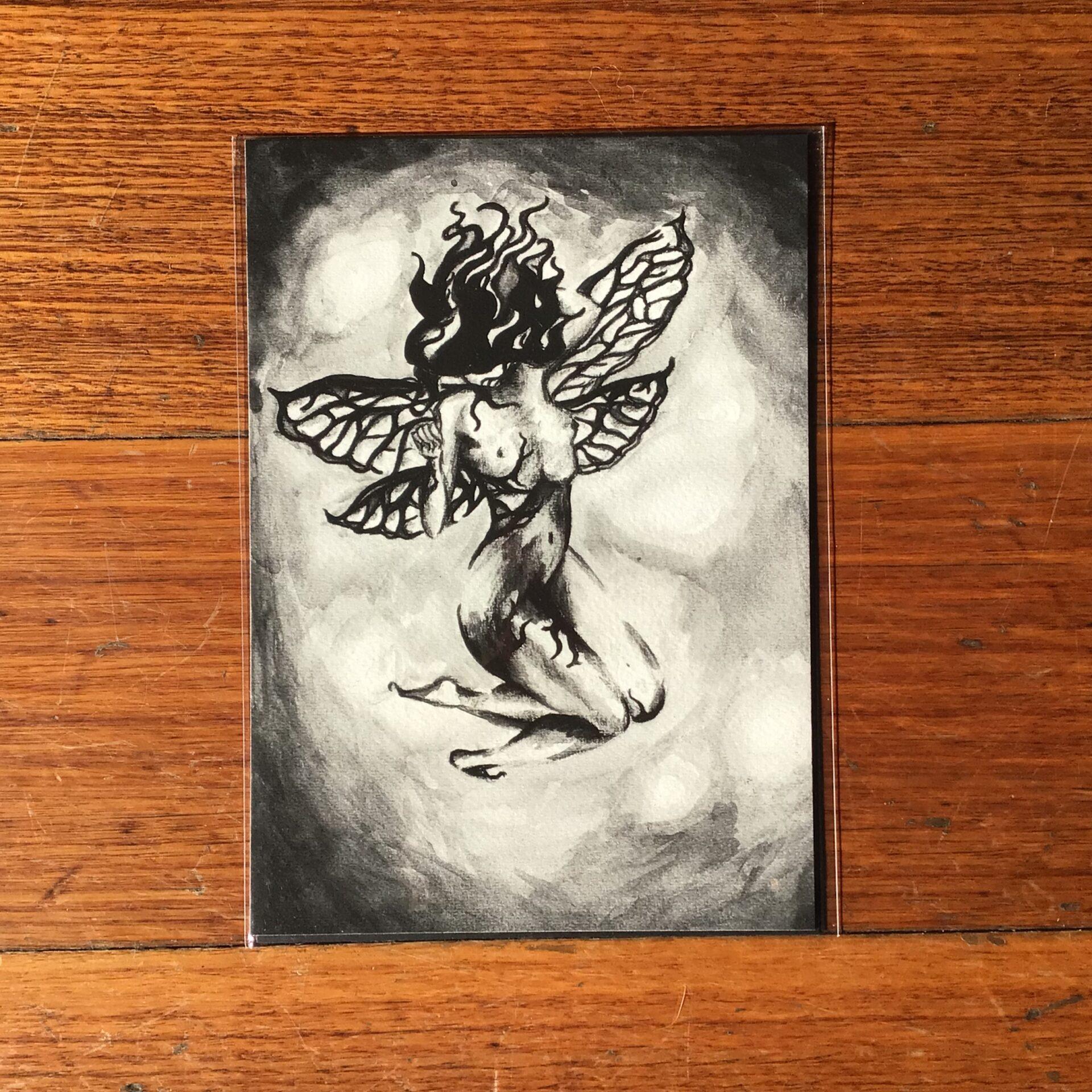 'Dark Fae', A5 Fine Art Print by Inktacled inktacled (Fitzroy)