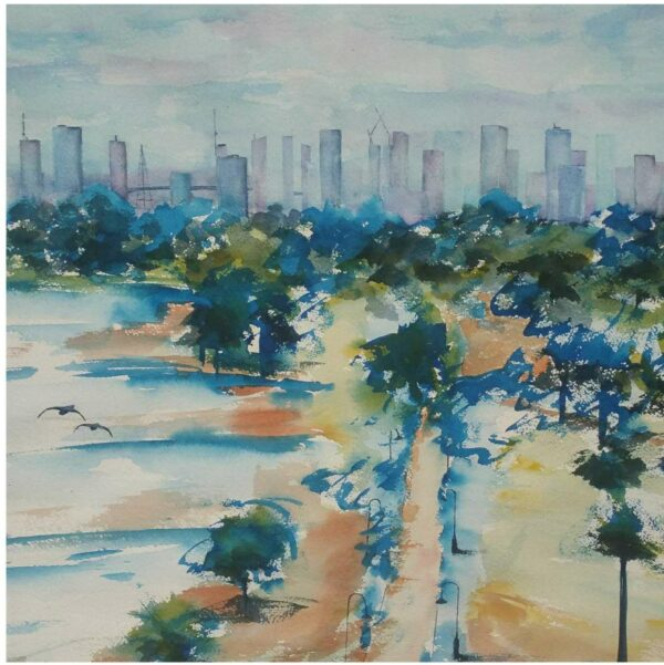 Empty Parks, Empty Streets, Empty Cities by Carin Lavery showing in Square Exhibition Artist