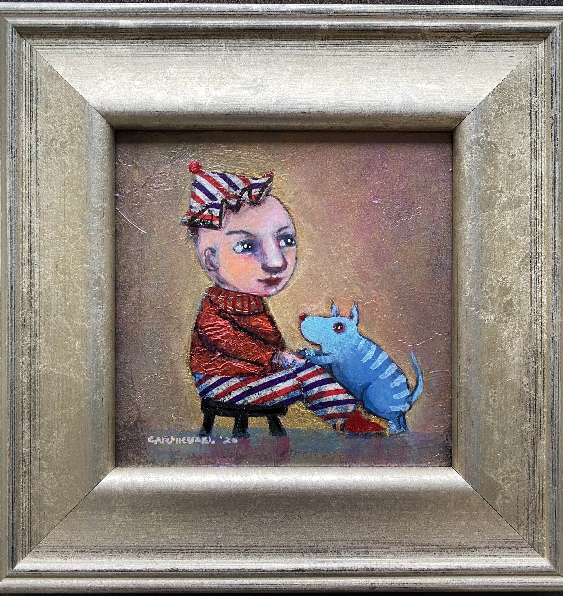 Boy with his Dogby by Rachel Carmichael showing in Square Exhibition Artist