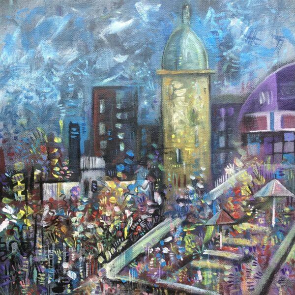 Prahran Square by Michael Elliott showing in Square Exhibition Artist