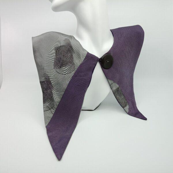 grey-and-mauve-silk-detachable-collar-by-judith-scott-upcycling judithscott 488989