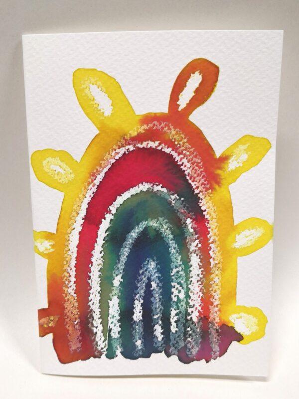 rainbow-gift-card-5-hand-painted-gift-card-by-gaby-niemeyer-art Gabrielle Niemeyer 614379
