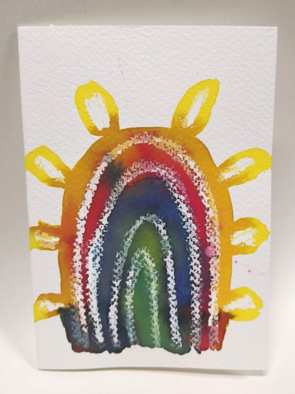 rainbow-gift-card-5-hand-painted-gift-card-by-gaby-niemeyer-art Gabrielle Niemeyer 436936