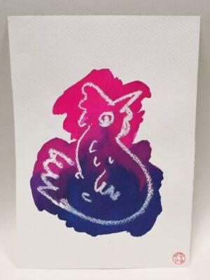 rainbow-gift-card-5-hand-painted-gift-card-by-gaby-niemeyer-art Gabrielle Niemeyer 271318