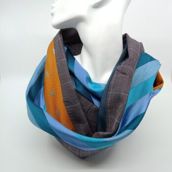 burnt-yellow-and-turquoise-silk-and-wool-scarf-by-judith-scott-upcycling judithscott 138833